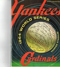 1964 New York Yankees World Series Program Mantle 16 WS HR/signed Gil Hodgers