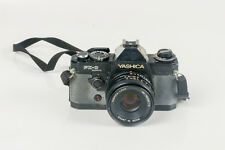 YASHICA FX-D QUARTZ CAMERA, YASHICA LENS ML 50mm 1:2 Made in Japan