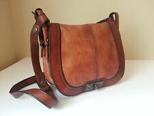 Fossil Handbag Saddle Flap Distressed Leather Crossbody Shoulder Extra Clean