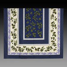 große Tischdecke Blau mit Oliven Lavendel Provencestil 235x140 100% Baumwolle
