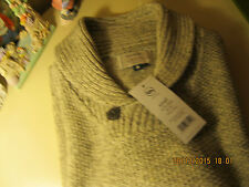 """Brand new Mens V neck knitted pullover with collar by George -Size 36""""/38"""" Chest"""