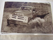 1956 STUDEBAKER TRANSTAR STAKE TRUCK ACTION SHOT 11 X 17  PHOTO /  PICTURE