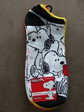 4 Pair Peanuts Snoopy No Show Women's Socks-Size 10-13-Free Shipping-New