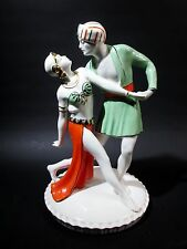 1930s ART DECO Royal Dux Dancers FIGURINE Rudolph Valentino & Vilma Banky