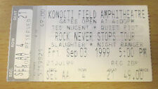 1999 TED NUGENT QUIET RIOT SLAUGHTER NIGHT RANGER CLEAR LAKE CONCERT TICKET STUB