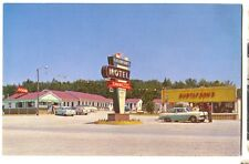 1950s Chrome Gustafson's Resort Brevort Michigan Postcard