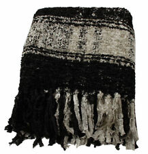 Gorgeous Black and White Plaid Sparkle Weave Throw