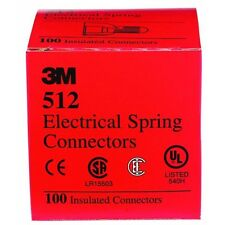 10 Pk 3M Red 20AWG Thru 8AWG Ranger Electrical Wire Connectors Nuts 100/Box 512