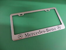 "(1pc)"" MERCEDES-BENZ "" E-Class Stainless Steel license plate frame"