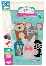 Pack of 5 Novelty Make-Your-Own Felt Finger Puppet Children's Toys