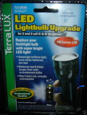 TERRALUX TLE-6EXB LED UPGRADE Bulb for 2 to 3 Cell C and D Maglite Flashlights