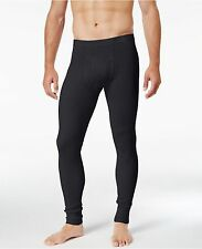 $60 ALFANI Men's THERMAL PANTS Black Long Johns Base Layer Bottoms UNDERWEAR M