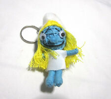 The Smurfs Girl Voodoo String Doll Keychain Ornament Accessory (Thai handmade)