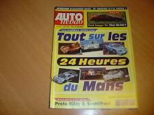 Auto hebdo N°1139 Ford Cougar V6.Guide des 24h du Mans