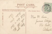 ESSEX POSTAL HISTORY :1905 OLD HEATH/COLCHESTER small ring cancel on PPC