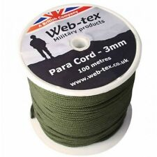 WEB TEX MILITARY SPEC PARACORD REEL ROPE LACES 3mm 100m CAMPING BUSHCRAFT
