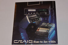 VINTAGE 1970s CRAIG FULL LINE CATALOG! HOME & CAR STEREOS/8-TRACK/CALCULATORS ++