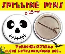 Spilla Spillina Pins 25 mm Collezione Halloween faccina zombie simpatico