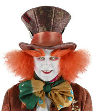 Mad Hatter Top Hat & Wig Alice in Wonderland Adult Halloween Costume Accessory