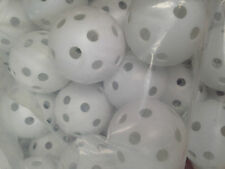 50 Pcs white Airflow Hollow Perforated Plastic JL Golf Practice Training Balls