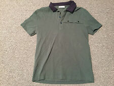Versace Collection Polo Shirt Men's Sz M rare green black Gianni