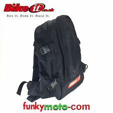 BLACK RUCKSACK BACKPACK LARGE HEAVY DUTY POCKET MOTORBIKE SPORTS RUGGED GENERAL