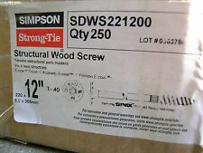 "SIMPSON STRONG TIE SDWS221200 10 CT 12"" Log Home Structural Screw Interior Ecoat"