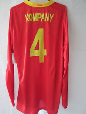 Belgium 2008 Player Issue Kompany Home long sleeve Football Shirt BNWT /34832