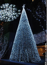 12M 100LED White Solar Lights Christmas Party Outdoor Indoor Decoration Bulb