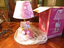 Vintage 2007 Sanrio Hello Kitty Table Lamp KT3095.  NEW NIB, MINTY Condition