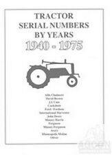 Tractor Serial Numbers Farmall Deere Ford Massey more
