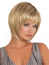 Women's COSPLAY PARTY WIGS BROWN SHORT STRAIGHT BOB STYLE FULL WIG Brown Wigs ღ