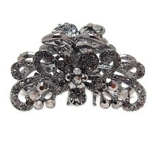 New Fashion Whites/colorful Austrian Crystal Metal Roses hair claws clips pins