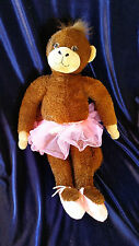 EMILY GOES WILD PINK TUTU BALLET BALLERINA SHOES MONKEY STUFFED ANIMAL DOLL TOY