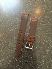 Premium 20mm Horween Leather Vintage Style  Minimal Stitch Watch Strap