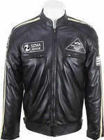 UNICORN LONDON Mens Biker Style 100% Real Leather Jacket 'All Sizes':Z8
