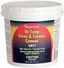 Imperial 32oz Grey Hi-Temperature Silicate Stove & Furnace Cement KK0284-A