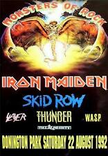 Iron Maiden-Monsters Of Rock Donington Park UK August 22nd 1992 concert poster