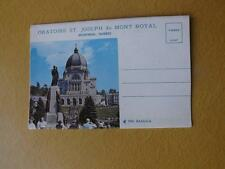 POSTCARD FOLD OUT BOOKLET ORATOIRE ST JOSEPH du MONT ROYAL MONTREAL QUEBEC