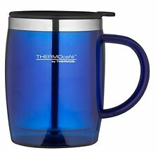 ThermoCafé by Thermos Stainless Steel Desk Mug Cup - 450ml - Blue - FREE P&P
