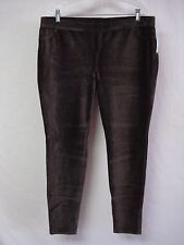 NWT Women's June & Daisy Corduroy Leggings Size XL Espresso #660D