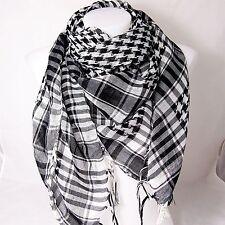 PLO Pali Tuch schwarz weiß Palästinensertuch Schal kariert Tücher Arafat Hals