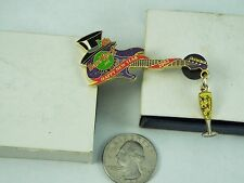 HARD ROCK CAFE PIN 2002 SAN DIEGO HAPPY NEW YEAR GUITAR WITH TOP HAT LE 350
