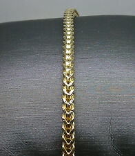 "10K Men's Yellow Gold Franco Chain With Diamond Cuts 30"" Long A26B1 Rope,Italian"