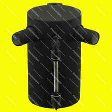 Baffled Matt Black Oil Catch Can Breather Tank Reservoir With 19mm 3/4 Inlets