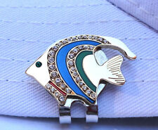 Crystal Tropical Fish Golf Ball Marker - W/Bonus Magnetic Hat Clip