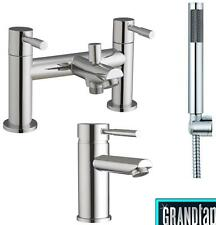 Bath Shower Tap And Basin Mixer Taps Bath Minimalist Chrome Bathroom (Lola 41)