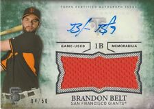 Brandon Belt 2015 Topps Triple Threads jersey auto autograph card UAJR-BBT /50