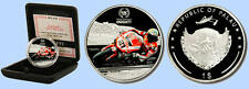 2008 Palau Large Proof color $1 Ducati Troy Bayliss Motorcycle-Boxed