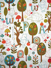 Moda Fabric - Keiki Mind Your Ps & Qs Cream Alphabet Forest Animal Scene /Yd